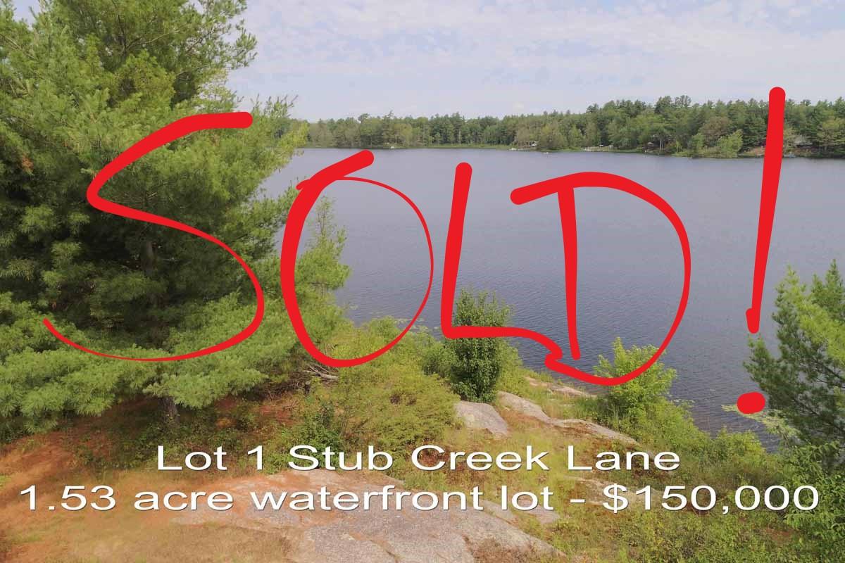 MLS listing - 1653 Stub Creek Lane, Central Frontenac - vacant waterfront building lot