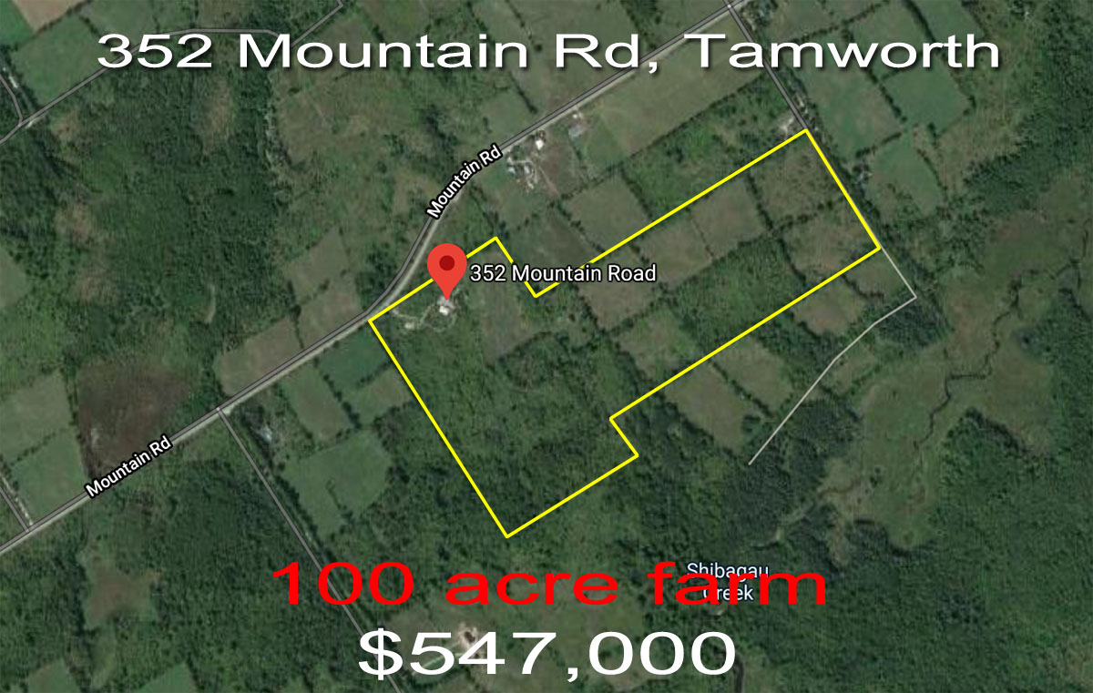 352 Mountain Rd, Tamworth ON coming soon to MLS - 100 acre farm for sale