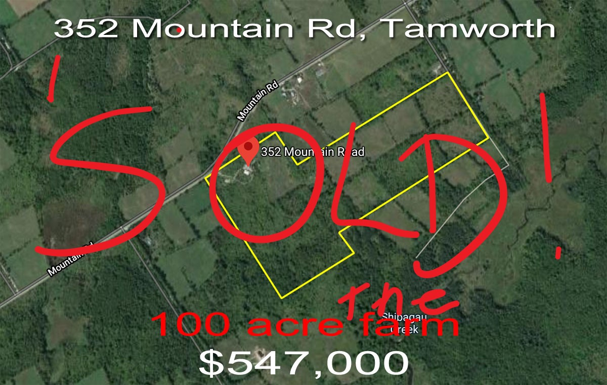 352 Mountain Rd, Tamworth ON SOLD